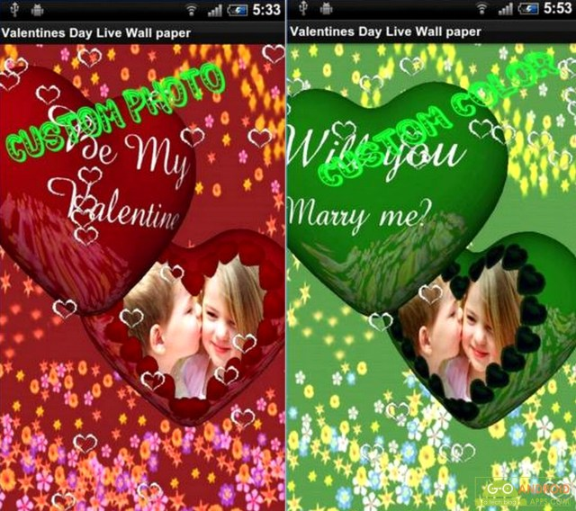 Valentines day live wallpaper app