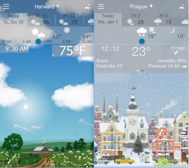 Accurate Weather YoWindow App