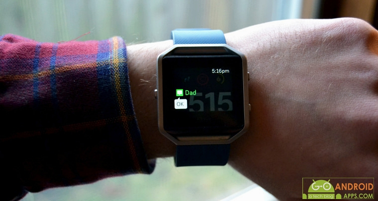 Fitbit Blaze Message