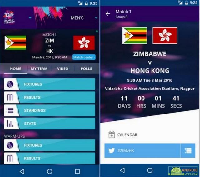 ICC WT20 Cricket App