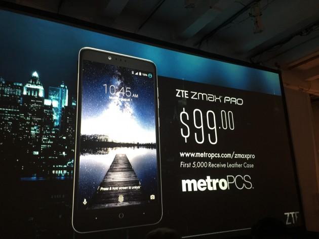ZTE's ZMax Pro smartphone