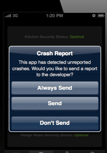 ios how to stop app from crashing