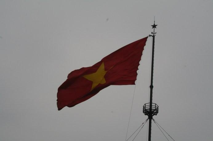 Vietnamesische Flagge in der DMZ
