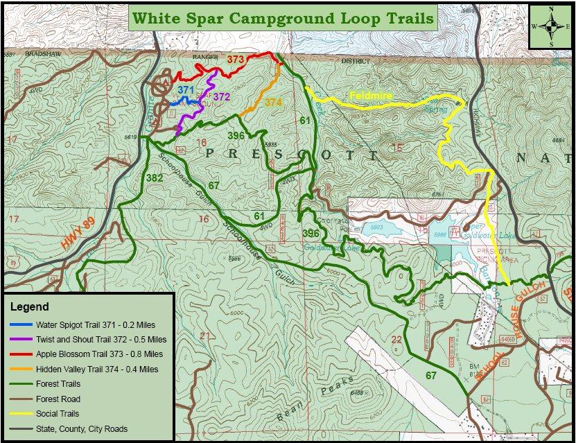 White Spar Trails
