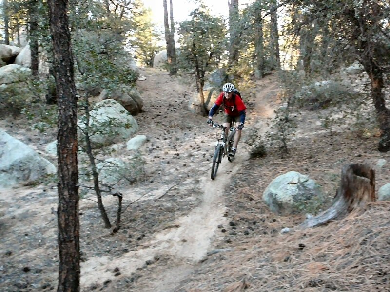 Me descending some single track.