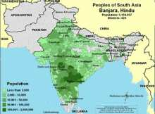 Banjara Population map india