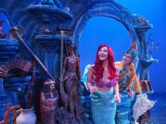 Sarah Kelly as Ariel and Colin SanGiacomo under the sea Photo courtesy of Zoe Bradford/Company Theatre