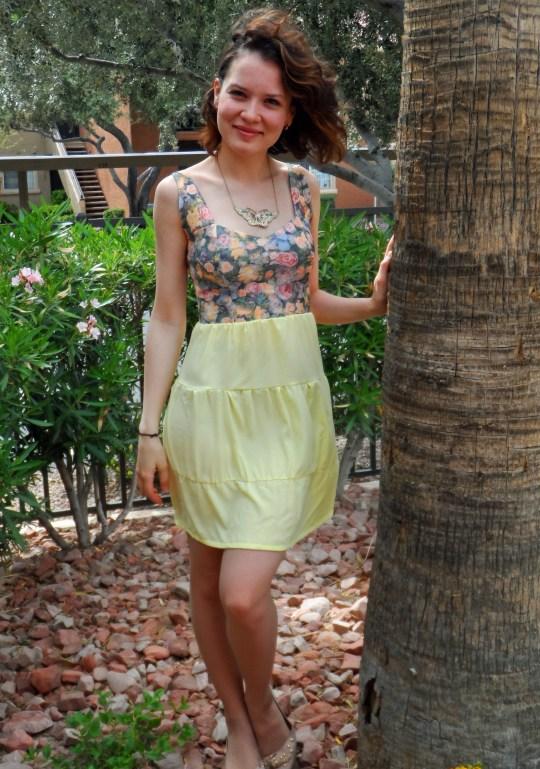 Lemon rose dress 5