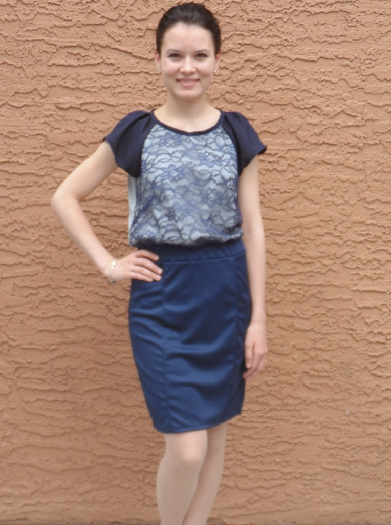 Lace blouse and skirt 1
