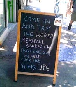 A more relaxed approach to negative Yelp reviews.