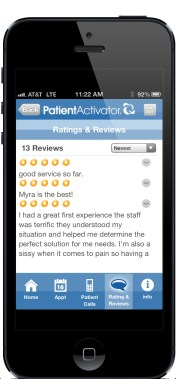 The PatientActivator mobile app also lets you see your schedule and patient callback numbers.