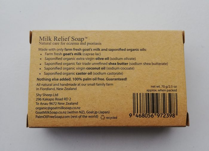 Goat Milk Soap NZ | Ingredients for Milk Relief Soap
