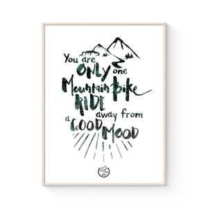 MTB Typografisk Plakat: A ride away fra Goats & Trails