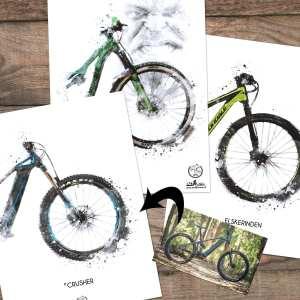 Custom MTB plakat - personliggjort plakat af DIN mountainbike hos GOATS & TRAILS