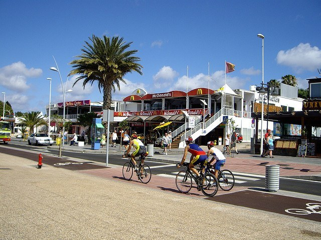 Ironman cyclists compete on Lanzarote