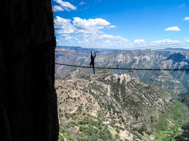 Danging above the Copper Canyon