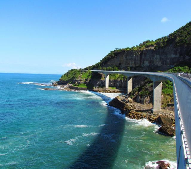 Sea Cliff Bridge - part of the Coastal Drive from Sydney to Melbourne
