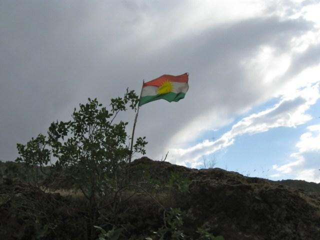 Kurdish flag in Zakho