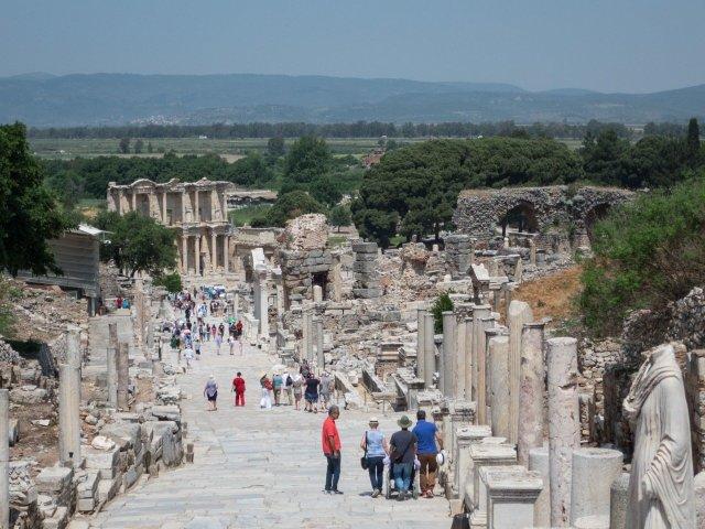The main road through Ephesus
