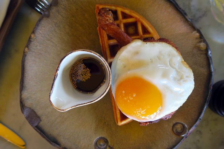 Breakfast at the Duck and Waffle