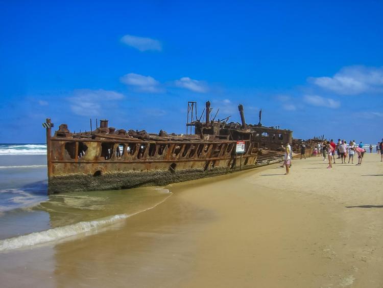 Shipwreck on Fraser Island