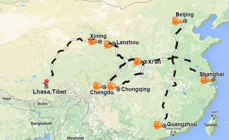 how to get to Tibet from China