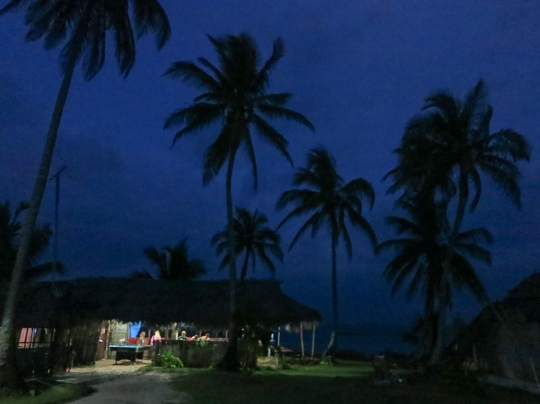Dining hall on Kuanidup in San Blas, Panama