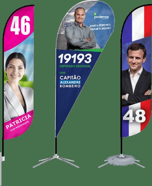 Marketing Político como se destacar com Wind Banners Personalizados - GoBanners