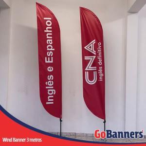 Wind Banner PENA com 3 metros - CNA Inglês definitivo