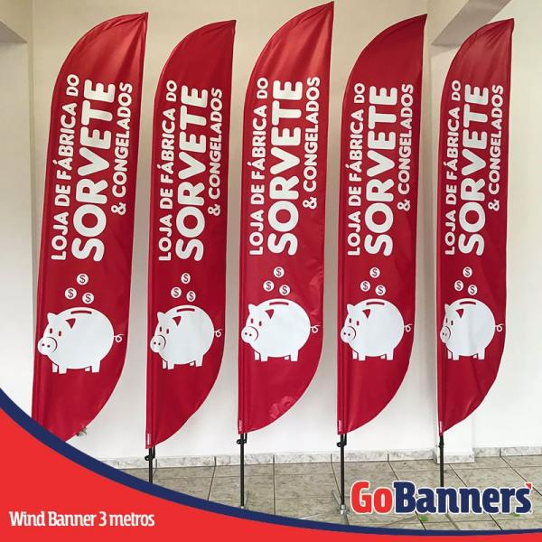 Wind Banner PENA com 3 metros - FABRICA DO SORVETE