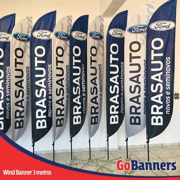 Wind Banner PENA com 3 metros - FORD BRASAUTO