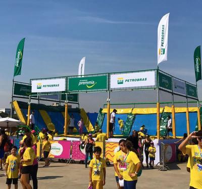 Patrocinadores Como divulgar em seus Eventos com Wind Banners Petrobras