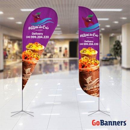 Wind Banner Promocional - modelo Pena e Gota