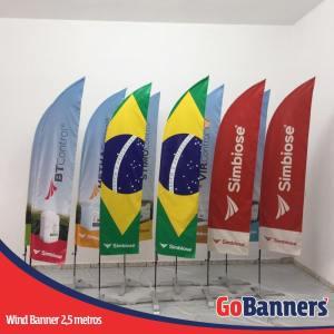 wind flag banner com 2,5 metros simbiose agro fertilizantes microbiologicos