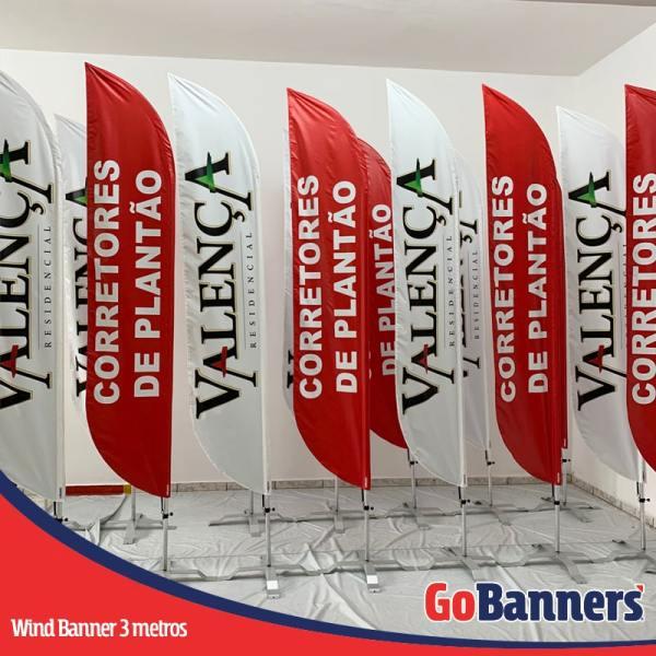 wind flag banner com 3 metros corretores de plantao