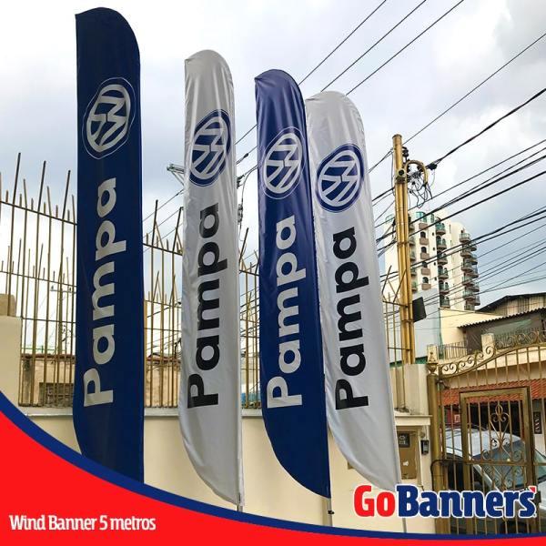 wind flag banner com 5 metros volkswagen