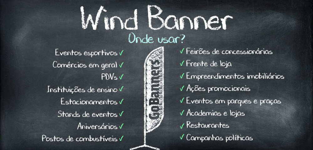 Onde usar os Wind Banners?