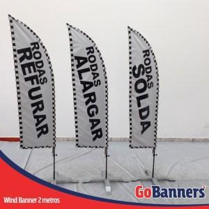 wind flag banner com 2 metros rodas