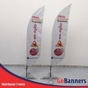 wind flag banner com 2 metrosem acao