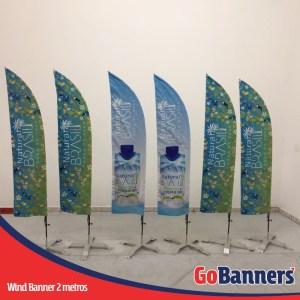 wind flag banner com 2 metrosnatural brasil