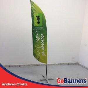 wind flag banner com 2,5 metros Aulas de Forro
