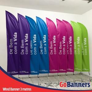 wind banner 3 metros de bem com a vida