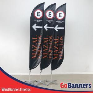wind banner 3 metros estacione aqui