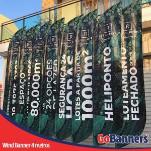 wind banner 4 metros empreendimento imobiliário a partir de