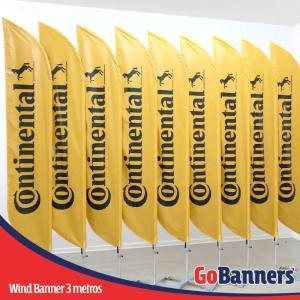 Wind Banner com 3 metros personalizado para Pneus Continental
