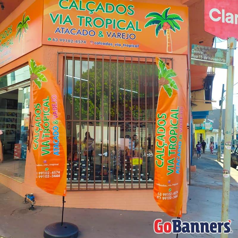 FLY BANNER CALÇADOS VIA TROPICAL