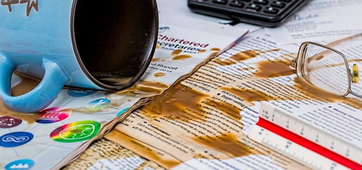 Spell Checkers - Spilt coffee by stevepb CC0 Public Domain from Pixabay
