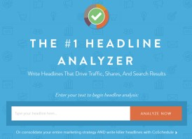 CoSchedule Headline Analyzer entry