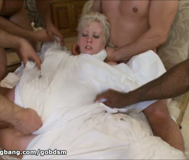 Blonde Suffers Brutal Gangbang Punishment For Meddling With Other Peoples Work Gobdsm