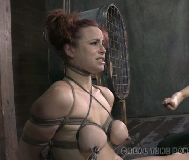 Taut And Painful Breast Bondage Punishment For Gorgeous Sweetheart Gobdsm